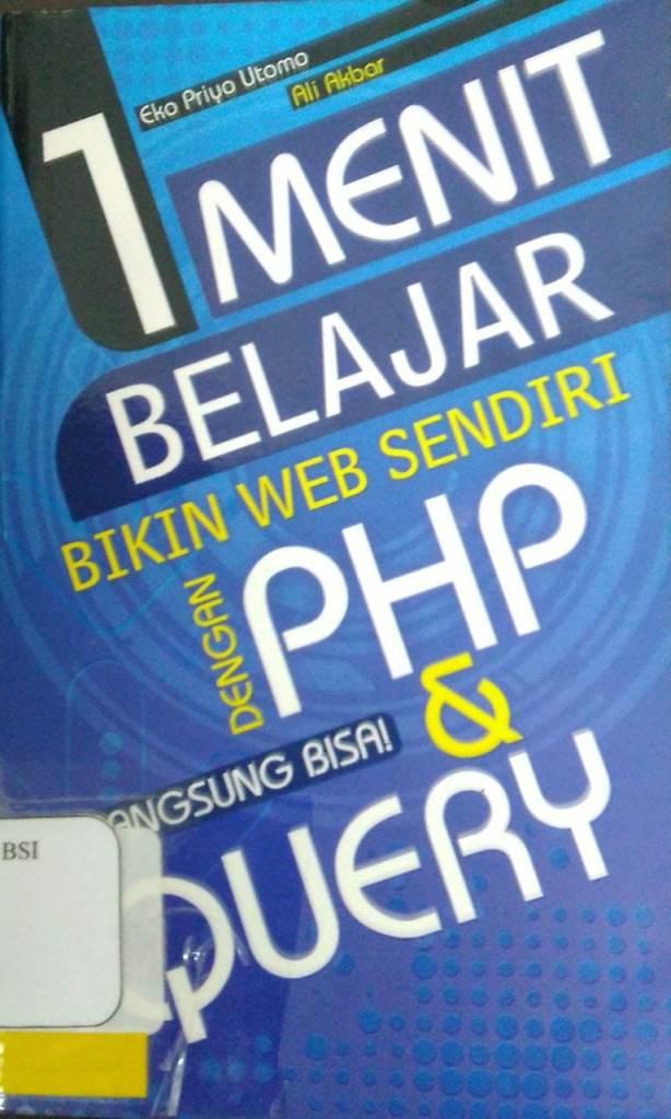 1 menit belajar bikin web sendiri dengan php dan jquery langsung bisa